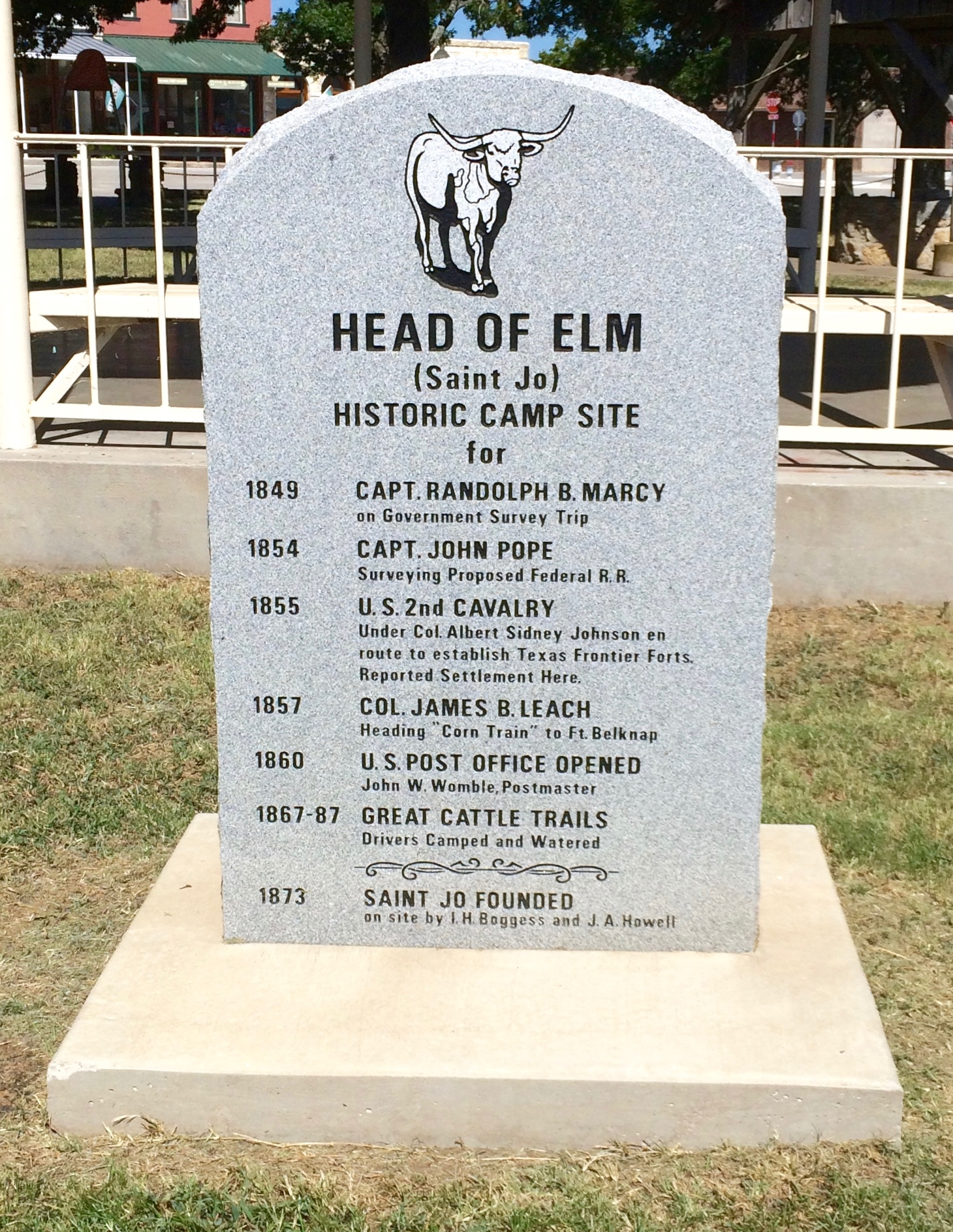 Head of Elm Marker