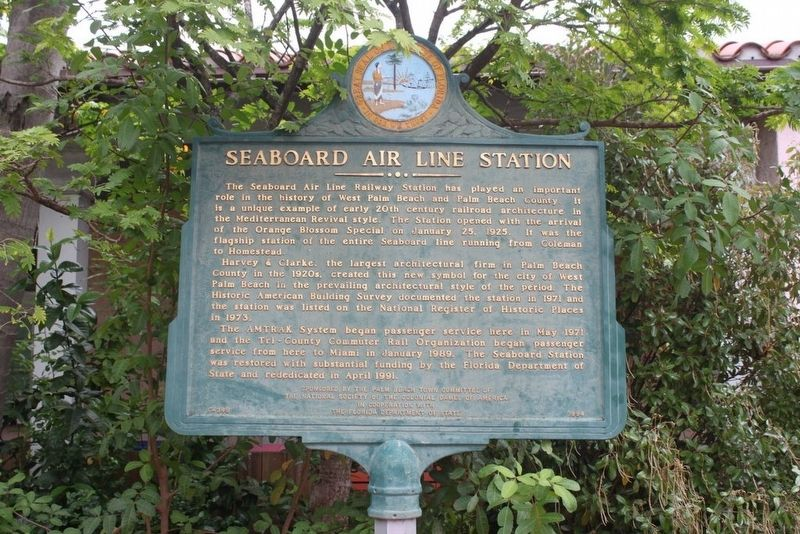 Seaboard Air Line Station Marker image. Click for full size.