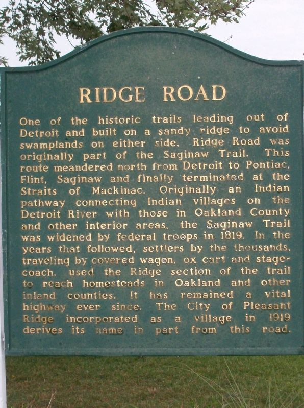 Ridge Road Marker image. Click for full size.