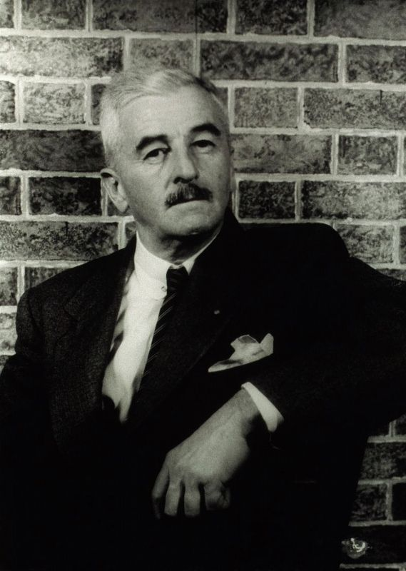 Author William Faulkner in 1954. image. Click for full size.