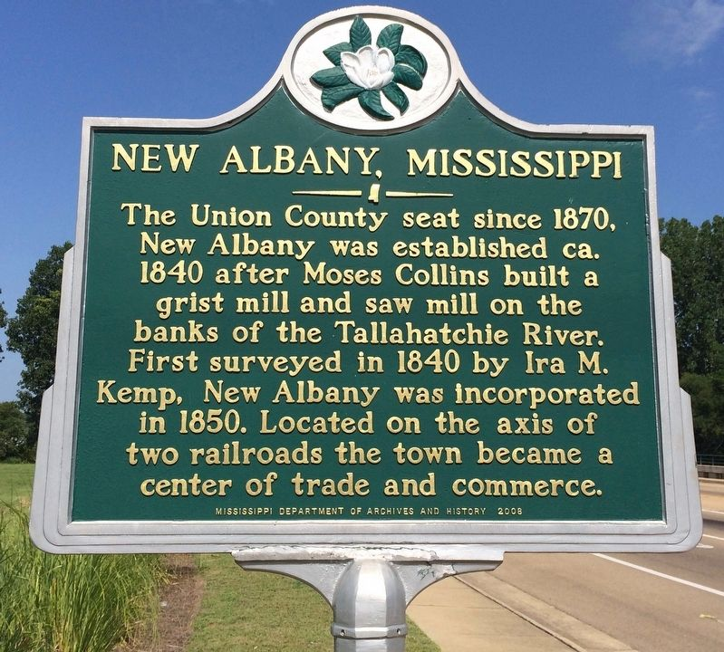 New Albany, Mississippi Marker image. Click for full size.