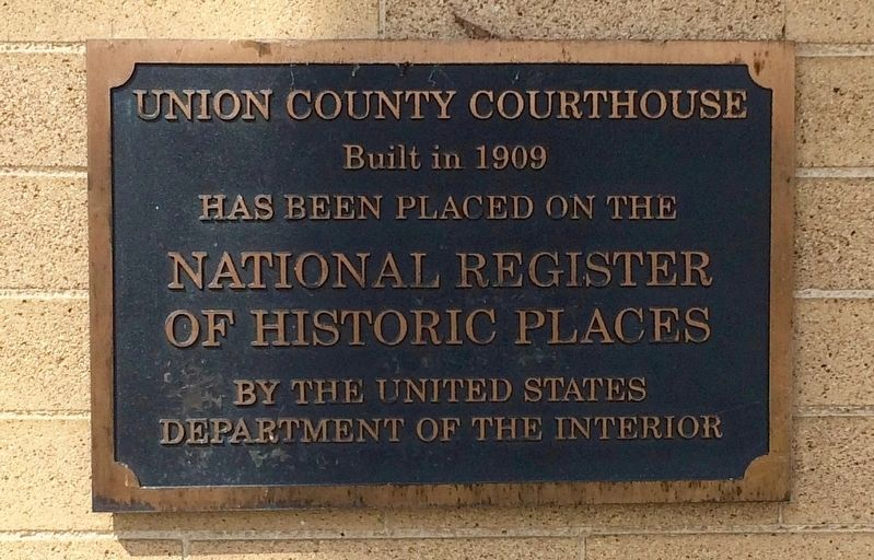 Courthouse placed on National Register of Historic Places. image. Click for full size.