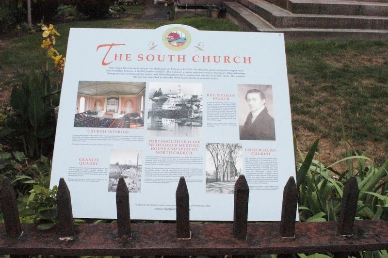 The South Church Marker image. Click for full size.