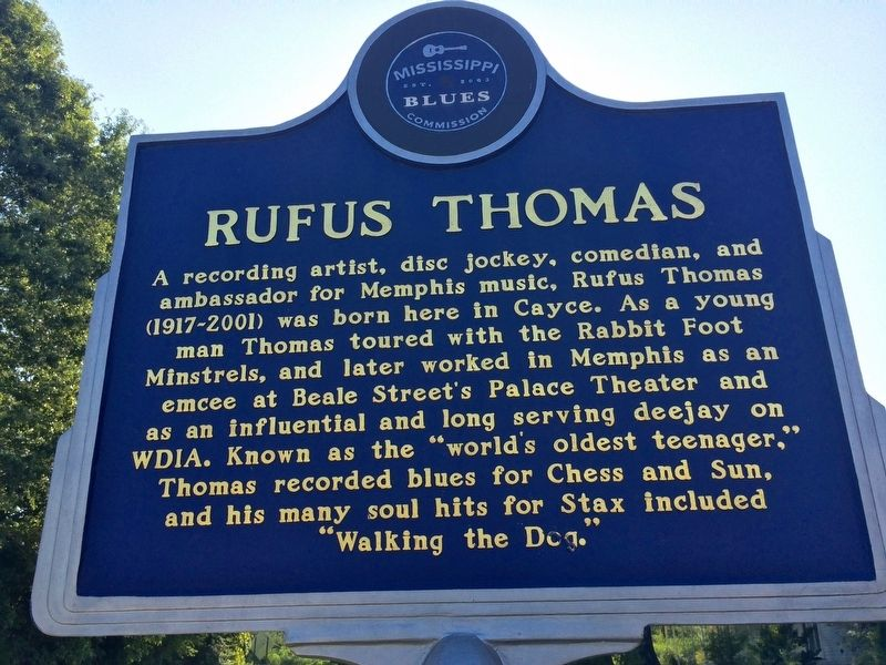 Rufus Thomas Marker image. Click for full size.