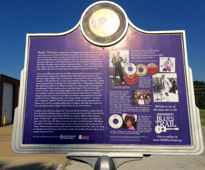 Rufus Thomas Marker (Rear) image. Click for full size.
