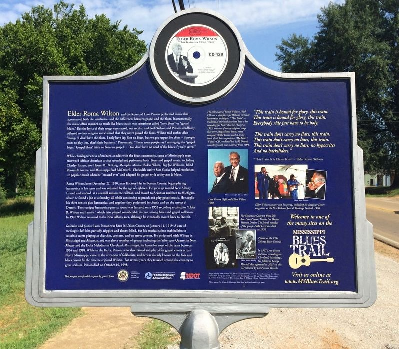 Elder Roma Wilson & Rev. Leon Pinson Marker (Rear) image. Click for full size.