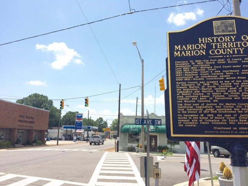 View of Marker looking south on Military Street.. image. Click for full size.