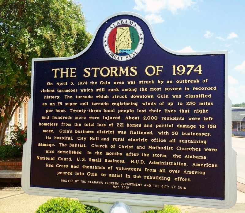 The Storms of 1974 Marker image. Click for full size.