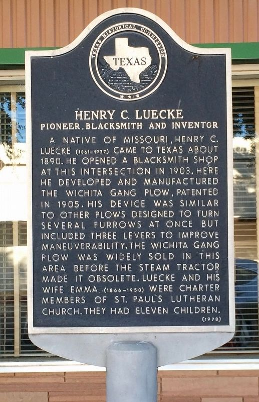 Henry C. Luecke Marker image. Click for full size.