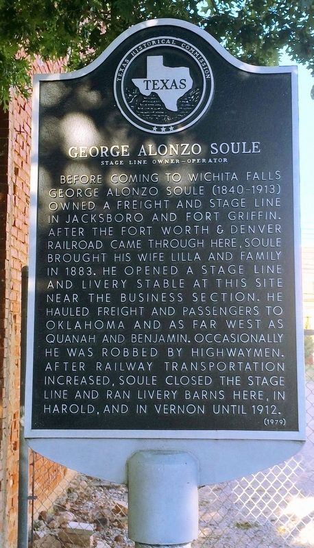 George Alonzo Soule Marker image. Click for full size.