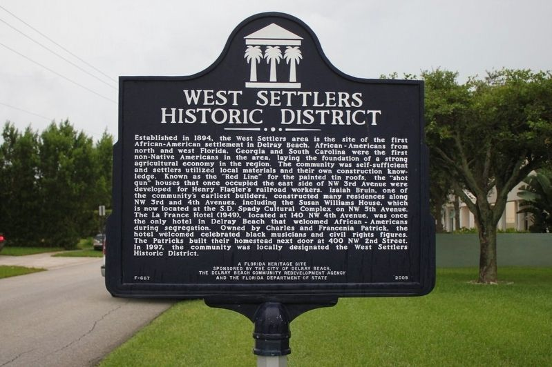 West Settlers Historic District Marker image. Click for full size.