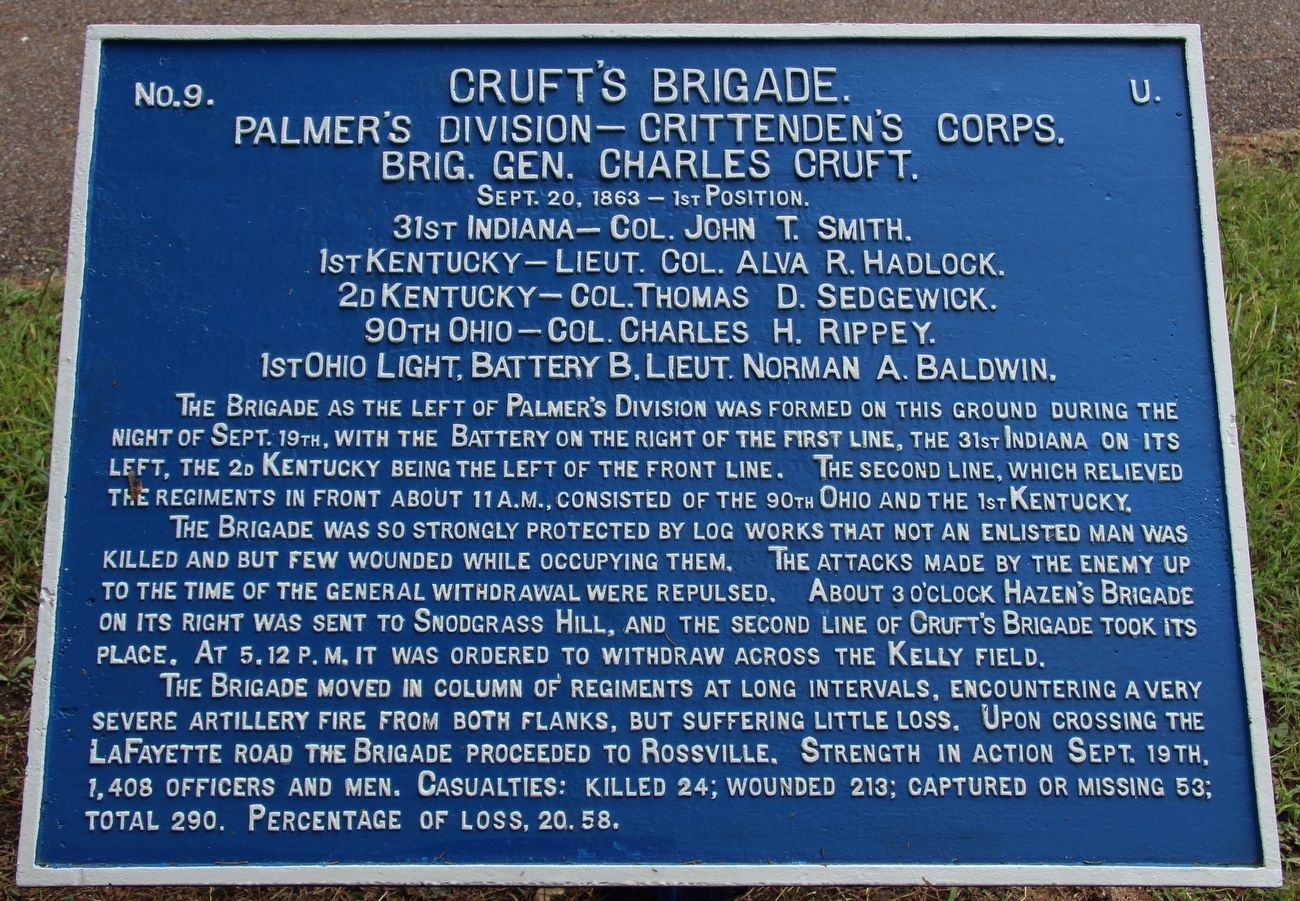 Cruft's Brigade Marker image. Click for full size.