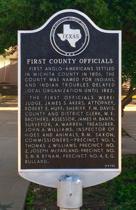 First County Officials Marker image. Click for full size.