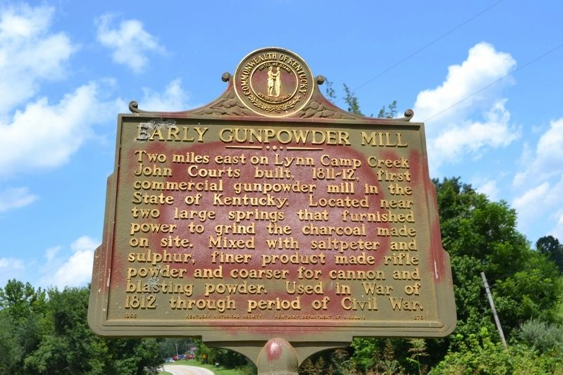 Early Gunpowder Mill Marker image. Click for full size.