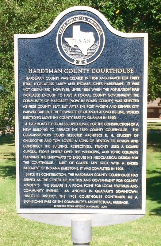 Hardeman County Courthouse Marker image. Click for full size.