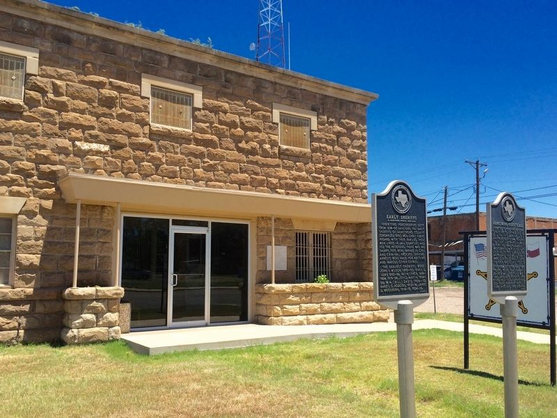 Early Sheriffs of Armstrong County Marker in front of County Jail. image. Click for full size.