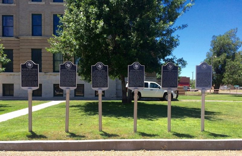 Marker located at the Armstrong County Courthouse - (marker on far right) image. Click for full size.