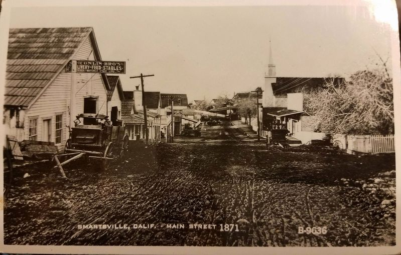 Smartsville Main Street 1871 image. Click for full size.