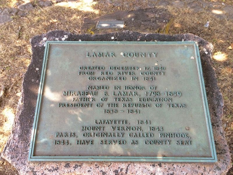 Lamar County Marker image. Click for full size.