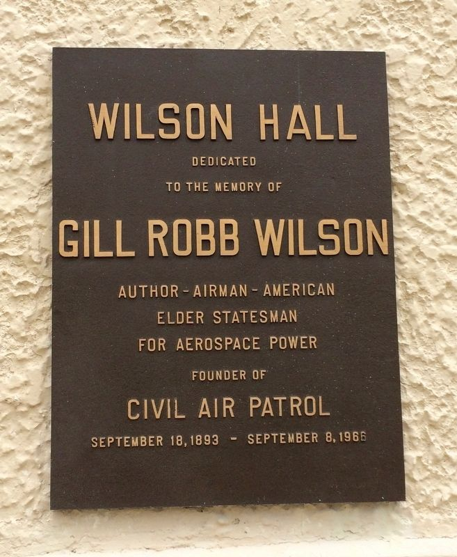 Wilson Hall Marker image. Click for full size.