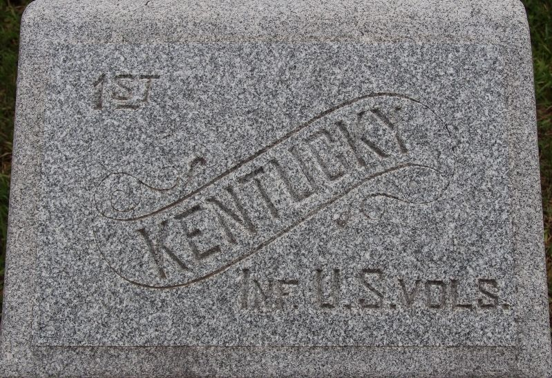 1st Kentucky Infantry Regiment (US Volunteers) Marker image. Click for full size.