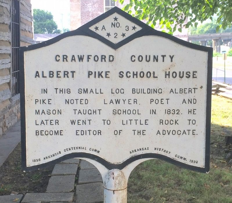 Crawford County Albert Pike School House Marker image. Click for full size.