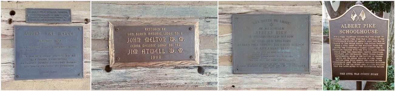 Other plaques about the school house. image. Click for full size.