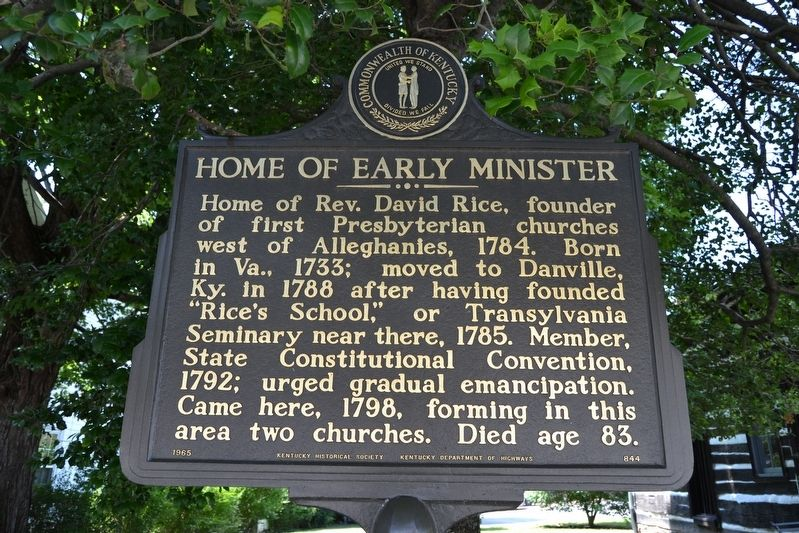 Home of Early Minister Marker image. Click for full size.