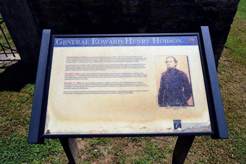 General Edward Henry Hobson Marker image. Click for full size.