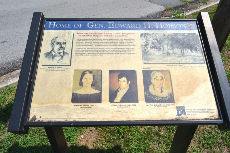 Home of Gen. Edward H. Hobson Marker image. Click for full size.
