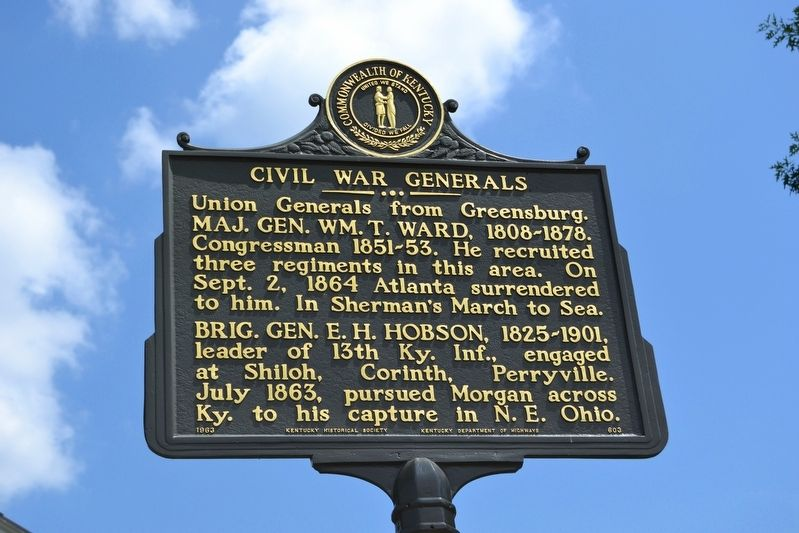 Civil War Generals Marker image. Click for full size.