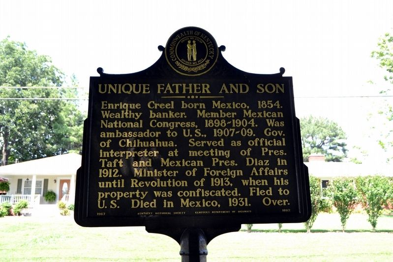 Unique Father and Son Marker image. Click for full size.