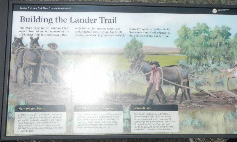 Building the Lander Trail Marker image. Click for full size.