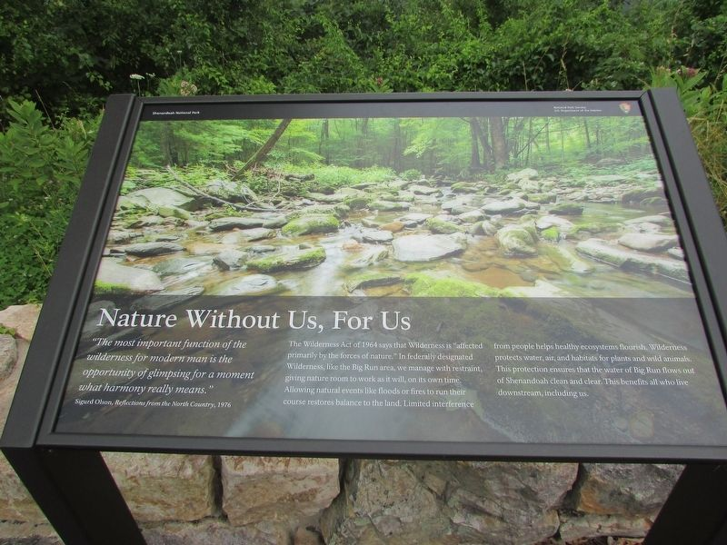 Nature Without Us, For Us Marker image. Click for full size.