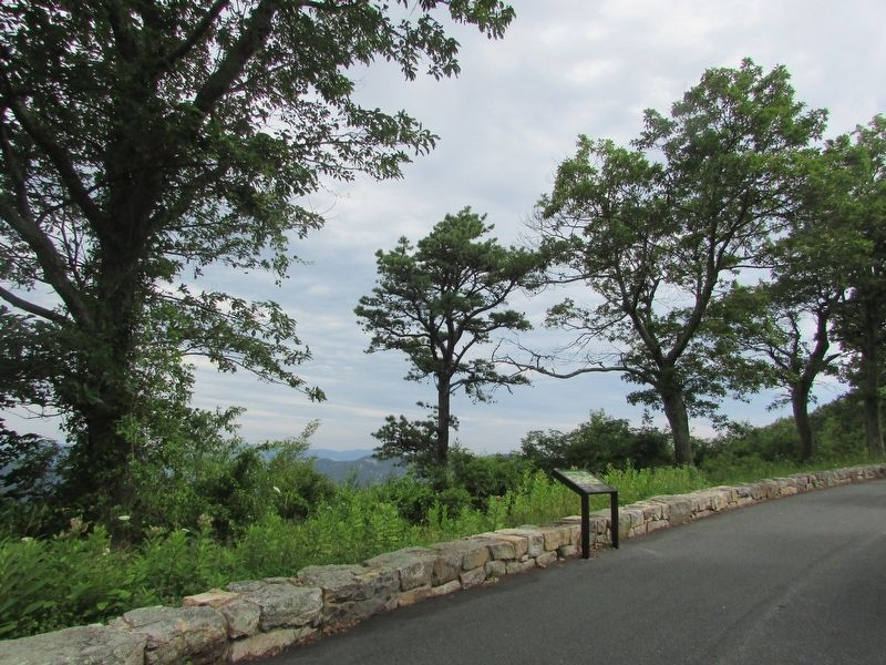 Marker in Big Run Overlook image. Click for full size.