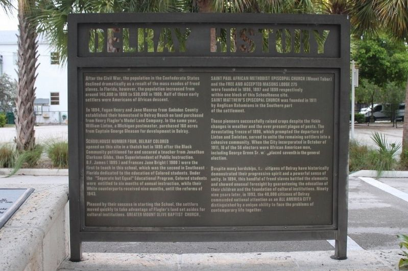 Delray History Marker image. Click for full size.