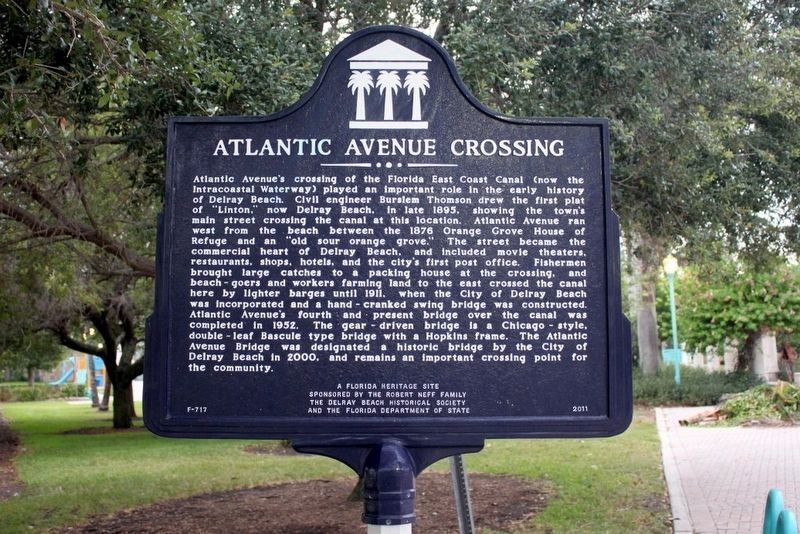 Atlantic Avenue Crossing Marker image. Click for full size.
