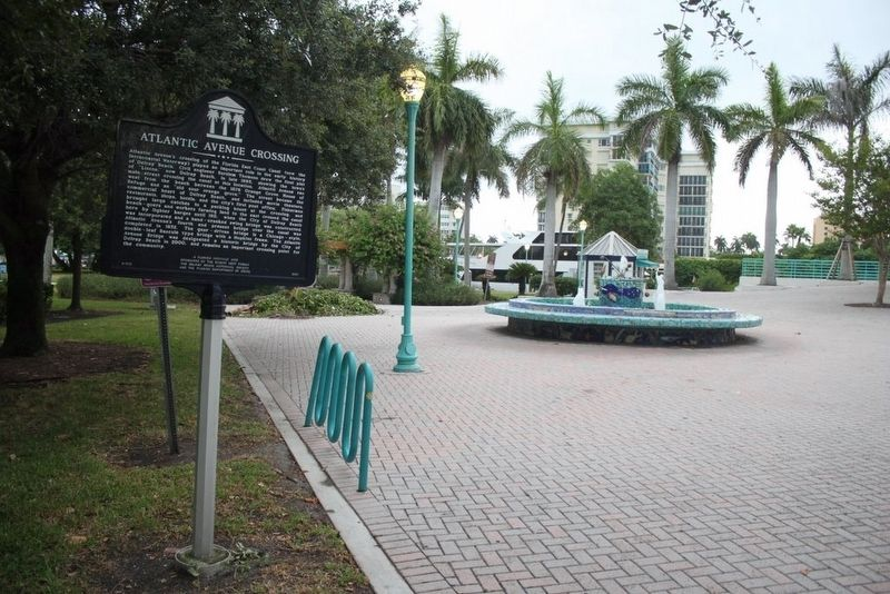 Atlantic Avenue Crossing Marker looking toward the Intercoastal Waterway image. Click for full size.