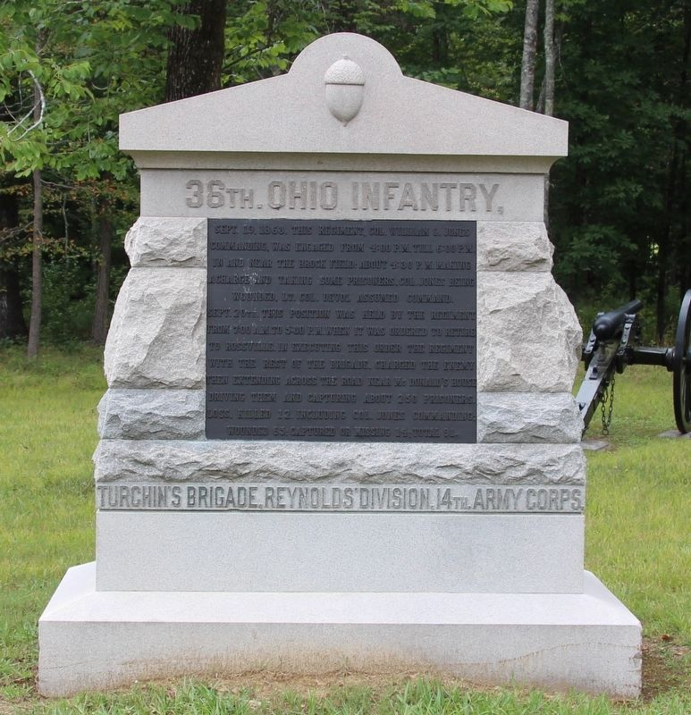 36th Ohio Infantry Marker image. Click for full size.