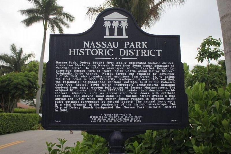 Nassau Park Historic District Marker image. Click for full size.