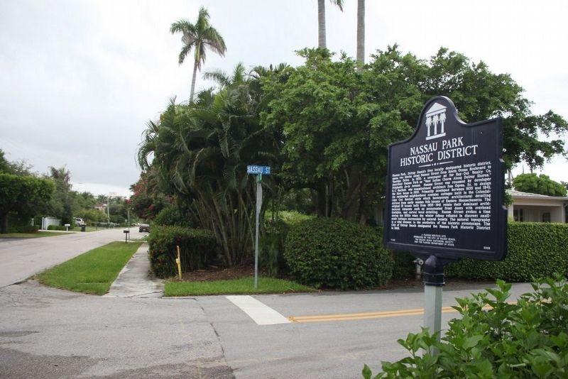 Nassau Park Historic District Marker at intersection image. Click for full size.