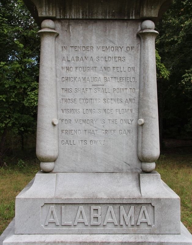 Alabama State Monument Marker image. Click for full size.