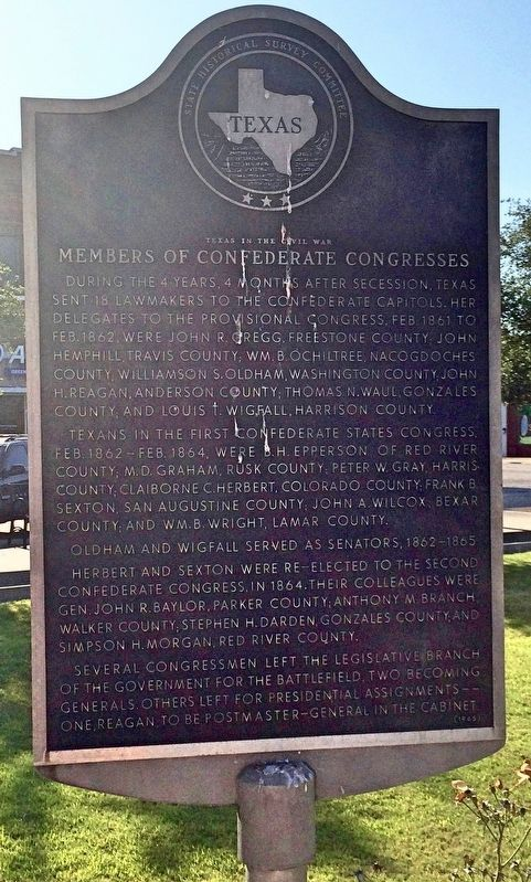 Members of Confederate Congresses Marker image. Click for full size.