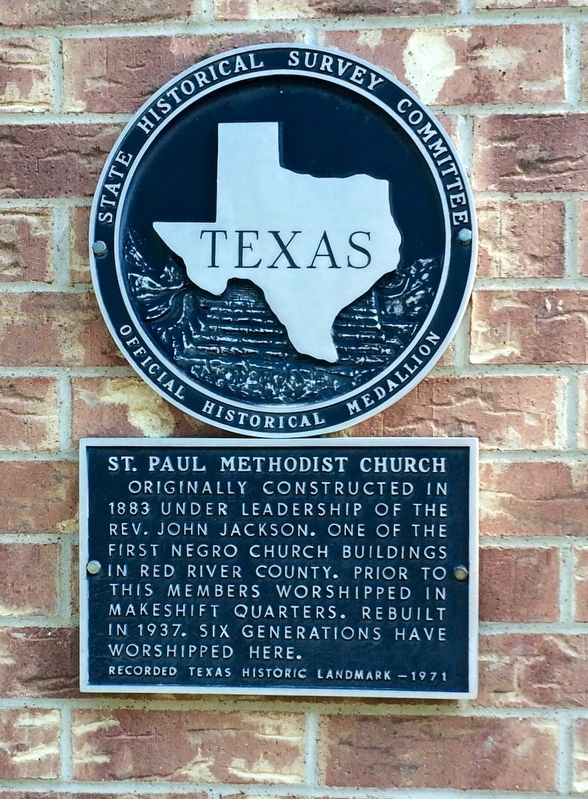 St. Paul Methodist Church Marker image. Click for full size.