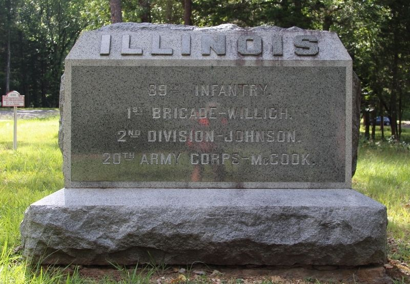 89th Illinois Infantry Marker image. Click for full size.