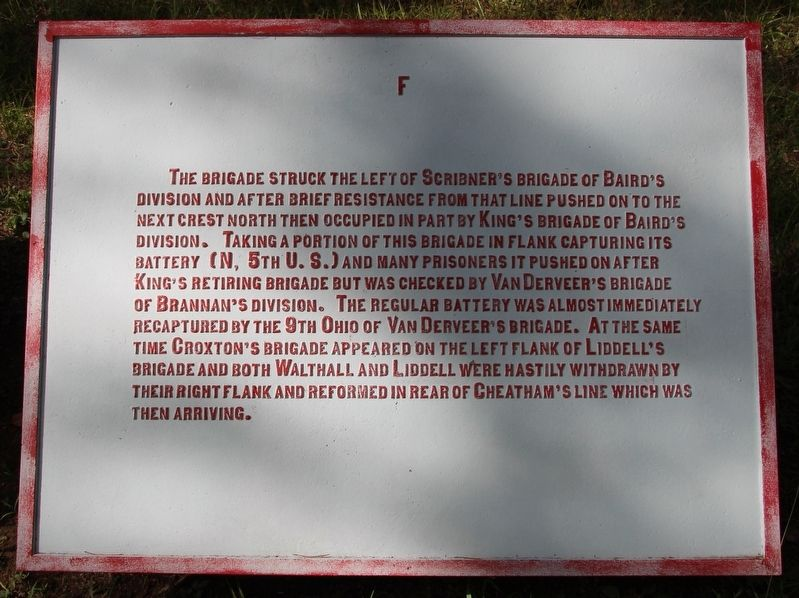 Walthall's Brigade Marker image. Click for full size.