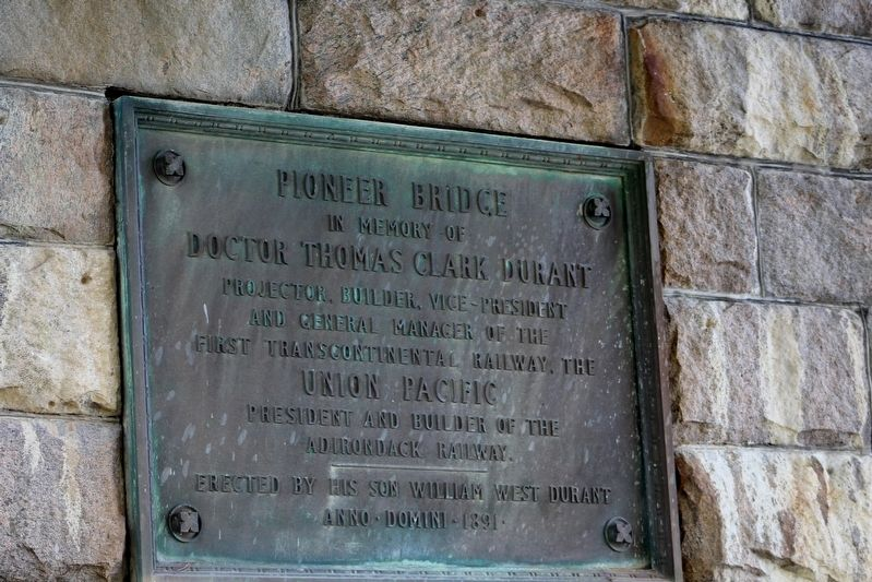 Pioneer Bridge Marker image. Click for full size.