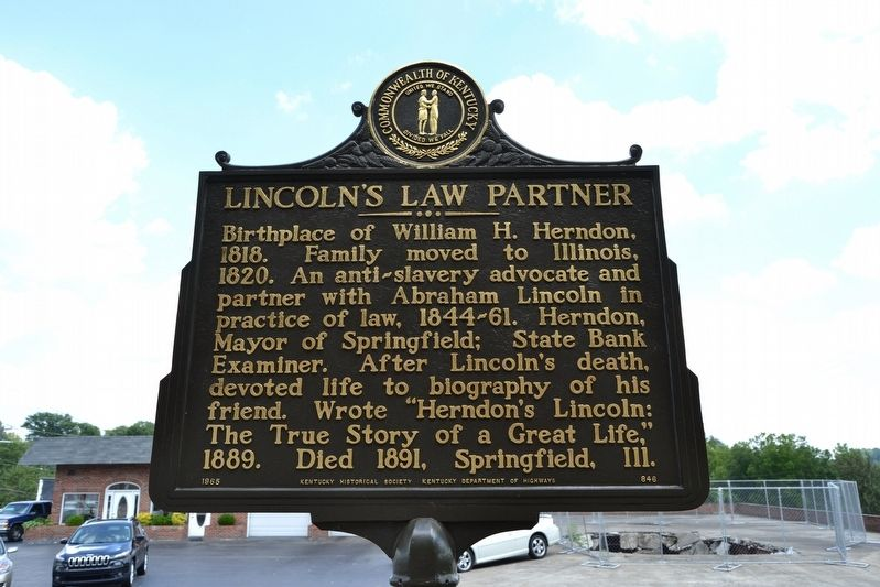 Lincoln's Law Partner Marker image. Click for full size.