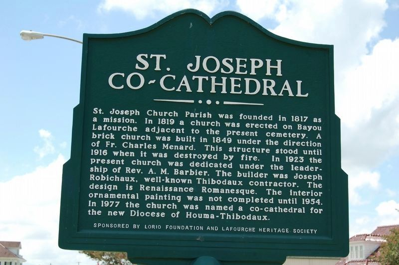St. Joseph Co-Cathedral Marker image. Click for full size.
