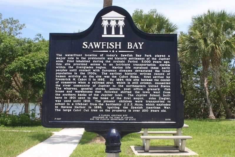 Sawfish Bay Marker image. Click for full size.